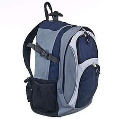 Are you tired of your back hurting  This Port Authority Navy   Grey Wheeled  Backpack is the perfect backpack. Cool for school, wheel it around or carry  it ... 65fd79aed1
