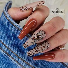 Burgundy Acrylic Nails, Bling Acrylic Nails, Best Acrylic Nails, May Nails, Aycrlic Nails, Leopard Print Nails, Nagel Gel, Dream Nails, Long Nails