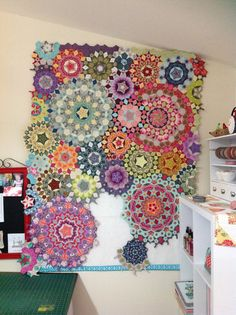 "Welcome to my dedicated page for my    ""La Passacaglia""     English Paper Pieced Quilt.   It will finish at 144 x 176cm         I will put ..."