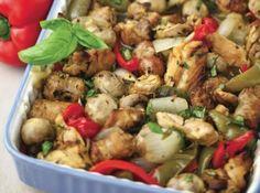 Chicken Stella Scarpariello add artichokes and change to white balsamic Atkins Recipes, Paleo Recipes, Low Carb Recipes, Cooking Recipes, Banting Recipes, Chef Recipes, Yummy Recipes, Stella Recipe, Chicken Scarpariello