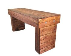 Rustic Wood Bench - Furniture With Reclaimed Wood Look - Industrial Decor