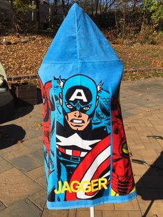 Avengers Super Hero Comic inspired Hooded Bath Wrap Beach Towel - Personalized
