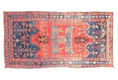 "One Kings Lane - Momeni - 4'6"" x 8'10"" Persian Hamadan Rug, Red"