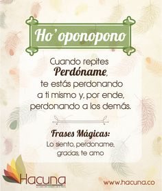 Perdóname (Ho'oponopono) Reiki, Pretty Quotes, Life Words, Spanish Quotes, Self Development, Personal Development, Self Improvement, Spirituality, Healing