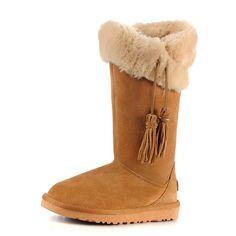 Rock Me Fashion Tassel Trim Snow Boots Code: 20150787 - Women's Snow Boots - Women's Clothing at Clothing.net