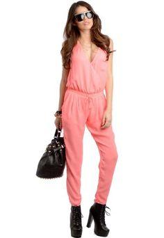 Feellib Women's Sleeveless Woven Romper Medium Neon Pink Feellib http://www.amazon.com/dp/B00HZ1HSZ2/ref=cm_sw_r_pi_dp_6einub006BDCB