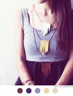 Collier à frange en cuir - DIY Bijoux - leather frange necklace - tuto - tutoriel -