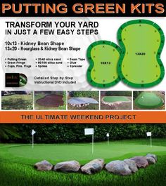 Image result for odd shaped backyard with a putting green