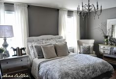 Romantic bedroom. Small but not cramped.  A Little Tour Through All the Befores and Afters So Far