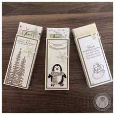 Stampin' Up! - Taschentuch Verpackung - Bellas Stempelwelt Adventsmarkt - Vanille Pur, Taupe
