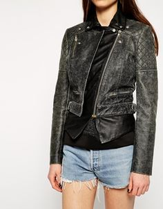 Enlarge Muubaa Tugela Bikera Leather Biker Jacket