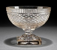 C.1830. Anglo-Irish Cut Glass Footed Bowl : Lot 536