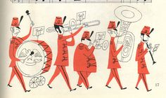 """There'll Be A Hot Time #2 Music for ""There'll Be a Hot Time,"" illustrated by Aurelius Battaglia. From the book Fav..."