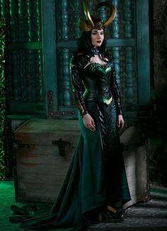 Lady Loki cosplay costume marvel inspired original desigm by Rarami Cosplay Make-up, Lady Loki Cosplay, Cosplay Outfits, Female Marvel Cosplay, Best Cosplay, Loki Halloween Costume, Loki Costume, Halloween Outfits, Halloween Ideas