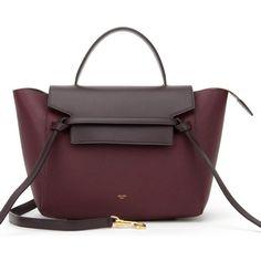 Celine Mini Belt Bag ❤ liked on Polyvore featuring bags, handbags, fanny bag, hip fanny pack, fanny pack purse, miniature purse and purple purse