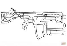 Nerf Gun Coloring Page