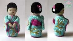 Just finished a new amigurumi toy, a lovely Japanese doll, a Geisha. An adorable little doll that makes me and others smile just by looking at :) For a PDF pattern please visit: