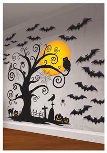 Gothic Halloween Tree Decorating Kit - 309482 | trendyhalloween.com #halloweendecorations