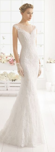 Aire Barcelona mermaid lace wedding dresses 2016