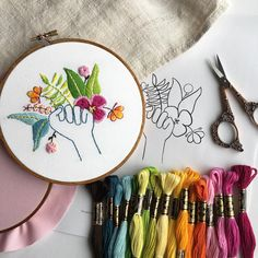 Embroidery is a humble craft that only takes a few supplies to get started. If you're interested in stitching, check out these free embroidery patterns. Hand Embroidery Patterns Free, Embroidery Sampler, Vintage Embroidery, Sewing Patterns, Embroidery Thread, Embroidery Blanks, Embroidery Boutique, Floral Embroidery, Decorative Hand Towels