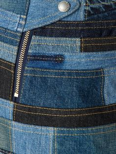 Shop Junya Watanabe Comme Des Garçons patchwork denim skirt in Restir from the world's best independent boutiques at farfetch.com. Shop 400 boutiques at one address.