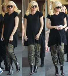 Expecting mom Gwen Stefani was spotted leaving a meeting in Los Angeles wearing…