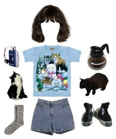 """""""Cat lady returns"""" by itskoda on Polyvore featuring The Mountain, Ann Taylor, Converse and H&M"""