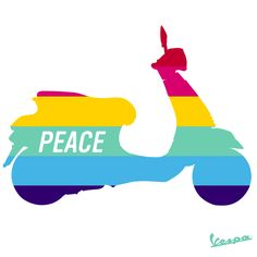 #VespaLovers come together for their passion. Today, we get together for #PeaceDay. #Vespa