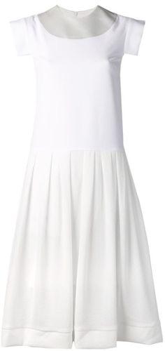 8e4371bd131 Ellery - White Crepe Satin Dress - Lyst