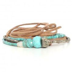 Pascale Monvoisin bracelet turquoise lien | Bracelet pierres