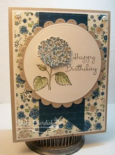 It's a Stamp Thing: Best of Flowers.....Blue Hydrangea