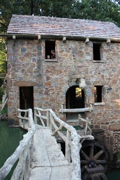 The Old Mill (Pughs Old Mill) in North Little Rock, Arkansas was built in 1933.  It was built as a replica of an old-water powered grist mill with no particular mill copied - made to look like it was built in the 1800s.