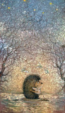 photography and illustration Hedgehog Drawing, Hedgehog Art, Cute Hedgehog, Hedgehog Illustration, Cute Illustration, Whimsical Art, Watercolor Art, Cute Pictures, Fantasy Art