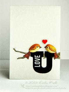 Love Birds from Pistachio shells | Love for art in many forms- Eesha Kolli handmade cards