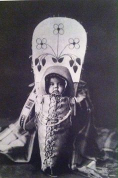 SENT: to Irina in Russia, a baby in a traditional First Nations Cradleboard (Nee-Me-Poo) Circa 1903