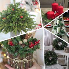 Очень красивый новогодний декор из еловых веточек .. Обсуждение на LiveInternet - Российский Сервис Онлайн-Дневников Christmas Wreaths, Holiday Decor, Home Decor, Decoration Home, Room Decor, Advent Wreaths, Interior Decorating