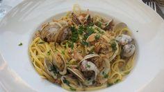 Linguini with Clams in White Sauce. Trattoria Isabella.