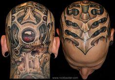 Nick Baxter tattoo Weird Tattoos, 3d Tattoos, Body Art Tattoos, Tattoos For Guys, Cool Tattoos, Awesome Tattoos, Tatoos, Worlds Best Tattoos, Latest Tattoos