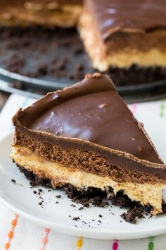 Chocolate and Peanut Butter Mousse Cheesecake | Spicy Southern Kitchen