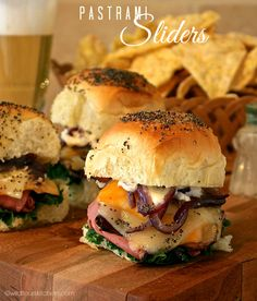 Buttery Co-Jack & Swiss Pastrami Sliders - Wildflour's Cottage Kitchen