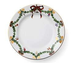 Star Fluted Christmas Plate 22 cm