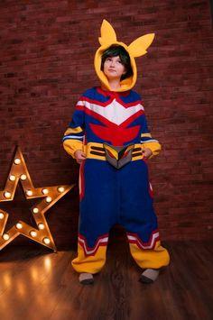 Custom My Hero kigurumi adult onesie pajama My Hero Academia Merchandise, Anime Merchandise, Anime Onesie, Pijamas Onesie, All Might Cosplay, Adult Onesie Pajamas, Looks Kawaii, Harajuku, Carters Baby Boys