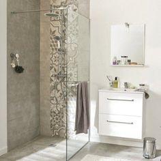 Paroi de douche à l'italienne, l.90 cm verre transparent 8 mm Cube | Leroy Merlin