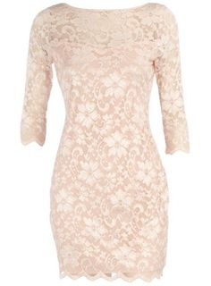 "reception!!!! $44... Dorothy Perkins ""blush scalloped lace dress"" by KathrynCerda"