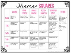 We focused on squares this week as we work our way through the basic shapes. Here is what we had planned:     And here is what we actuall...