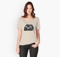 Black Mini Cooper t-shirts.  #minicooper #mini #cooper #british #automobile #carillustration #illustration #tshirt #shirt #carshirts #minihatch #hothatch #redbubble #black