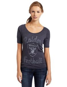 d20c521f4 NFL Women s New York Jets Heather Vintage Thermal Sleeve Athletic Tee  (Black Wash Medium)