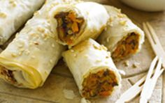 Delicious vegetarian rollettes with a barbecue flavour.