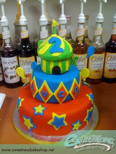 circus cake idea... would change the colors though