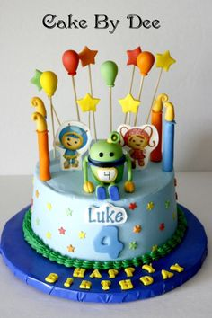 23+ Marvelous Image of Team Umizoomi Birthday Cake . Team Umizoomi Birthday Cake Team Umizoomi Cake Birthday Cake Umizoomi Cake Festas Pinterest  #BirthdayCakeToppers
